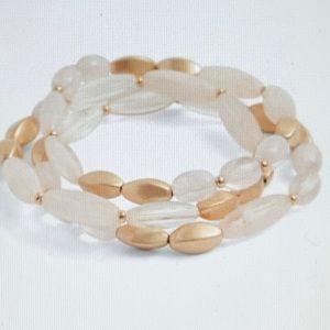 ❤️ 3 FOR $20Torrid Gold & Pink Stretch Bracelet(3)